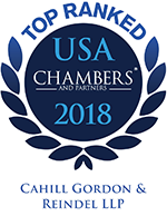 Cahill Earns Top Ranks from Chambers USA 2018