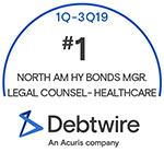 Cahill Receives Top Ranks in Debtwire 3Q19 League Tables