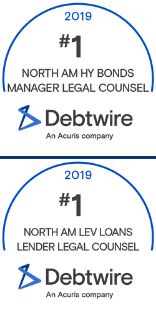 Cahill Earns Top Rankings in Debtwire FY 2019 League Tables